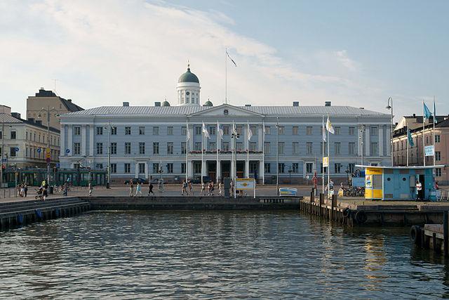 """Helsingin kaupungintalo satamasta"" by kallerna - Own work. Licensed under CC BY-SA 3.0 via Wikimedia Commons - http://commons.wikimedia.org/wiki/File:Helsingin_kaupungintalo_satamasta.jpg#/media/File:Helsingin_kaupungintalo_satamasta.jpg"